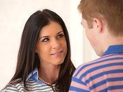 Mom Teaches teens boyfriend on good sex