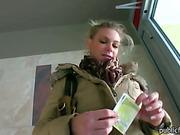Big tits Eurobabe Adele fucked for money