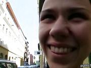 Nasty Czech girl Denise Sky sex for cash
