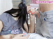 Glamour teen Mia gives head and screwed