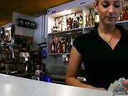 Barmaid Lenka twat pounded with stranger