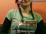 Cute chick Petty asshole reamed for cash