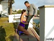 Busty honey Franceska Jaimes public fuck