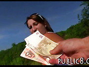 Eurobabe Tereza banged in public place