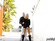 Blond Portuguese Erica Fontes public sex