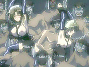 Chained hentai maids groupsex by ghetto bandits