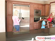 Busty teen Rikki Six 3some with stepmom