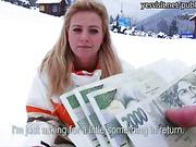 Czech slut Nathaly Teges banged for cash