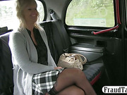 Divorced amateur woman having sex in a taxi with the driver because she didnt get laid in a long time