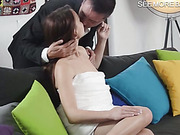 Sultry Taylor Sands sucks cock and boned