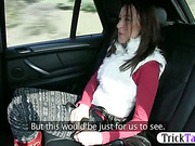 Big tits amateur babe nailed in the taxi