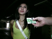 Amateur Mona drilled in a parking lot