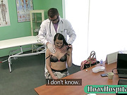 Petite patient fucked with horny fraud doctor on a table