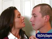 Lusty teacher seduces teens to have 3way