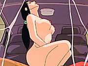Bigtits anime girl hot riding dick in the car
