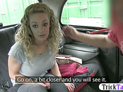 Amateur chic persuaded to give head in the backseat recorded